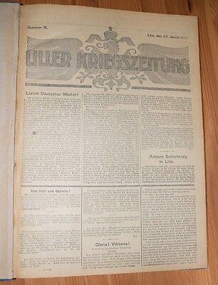 60 Original Liller Kriegszeitung Nr. 15 - Nr. 75  20.1.1915 - 30.7.1915 gebunden