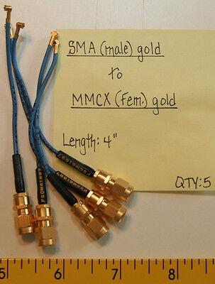 "Male to SMA 7 0.090/"" OD Hardline Cables 4.75/"" SMA Male"