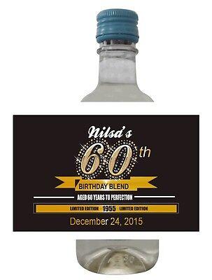 24 Bling Bling Mini Wine Bottle Labels for Weddings, Showers, Birthday