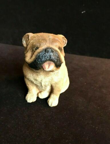 Sandicast Small Size Bulldog Fawn Sculpture~Sitting~S Brue~M175