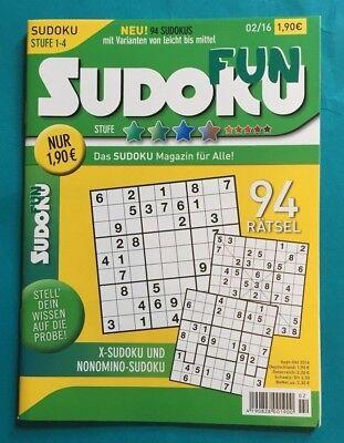 Sudoku FUN Stufe 1-4 Neu + unbenutzt 1A absolut TOP