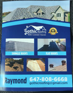 GOTHIC ROOFING FLAT ROOF/SHINGLES