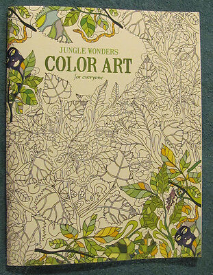 Leisure Arts JUNGLE WONDERS Color Art Adults Teens Kids Color Book 6766