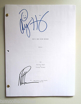 HOW I MET YOUR MOTHER autographed script Neil Patrick Harris NPH Hannigan HIMYM