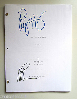HOW I MET YOUR MOTHER autographed script Neil Patrick Harris NPH Hannigan HIMYM
