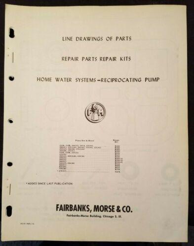 Fairbanks-Morse Line Drawings Repair Parts Home Water System Reciprocating Pumps