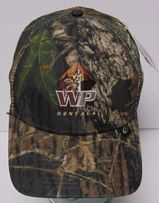 New Tags Wolf Pack Rentals Energy Services Oil Camo Camouflage Hat Cap Tx Oh Wv