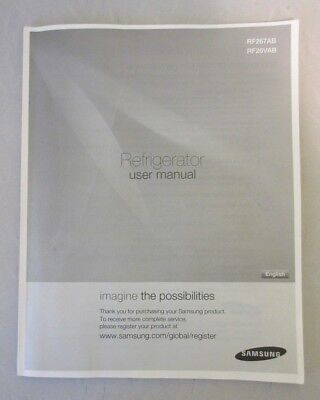 Samsung Refrigerator RF267AB User Manual