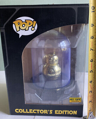 GOLD BB-8 Domed Star Wars Force Awakens Funko Pop Hot Topic Exclusive MINT RARE
