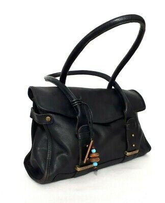 HIDESIGN Genuine Leather Black Handbag Shoulder Tote Bag