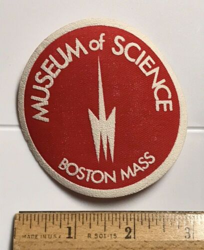 Museum of Science Boston Mass. MA Red White Souvenir Round Patch Badge