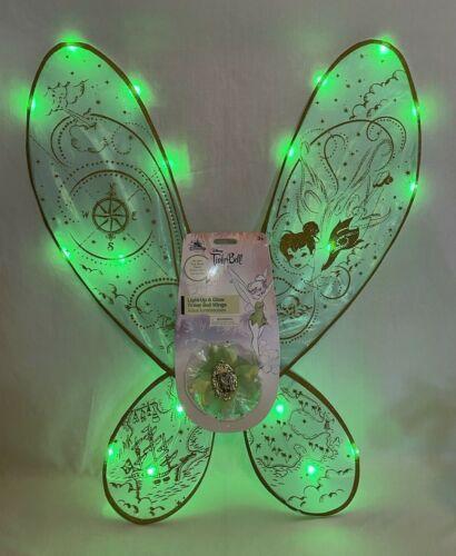 Disney Parks TINKER BELL Wings Halloween Costume Light Up Cosplay Glitter NEW