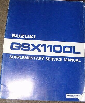 SUZUKI  GSX1100L SUPPLEMENTARY SERVICE MANUAL 1980  (CONTENTS LISTED)