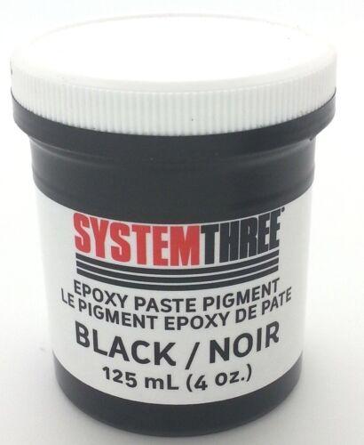 System Three 3201A06 Black Paste Pigment Coating, 4 oz. Jar