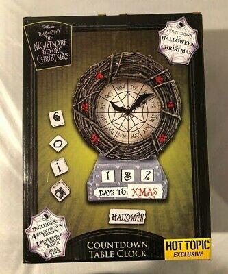 Halloween Table Topics (Nightmare Before Christmas Countdown Table Clock Halloween Hot Topic Exclusive)