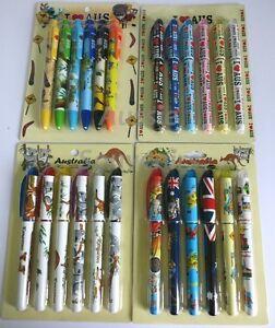 24x Australian Souvenir Pens - Bulk Savings! 6 Designs To Choose From! Kangaroo
