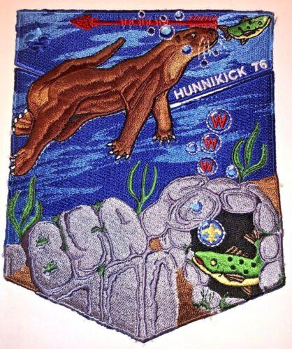 Hunnikick Lodge # 76 Swimming Otter 2 piece OA Flap Set NOAC 2006 MINT