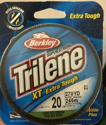 1 Spool Berkley Trilene XT Extra Tough Clear Mono Line 30 Pound Test 220 Yards