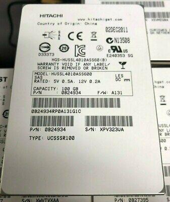 "HGST 100GB 2.5"" in SAS SLC SSD HUSSL4010ASS600 0B24934 Enterprise High Endurance"