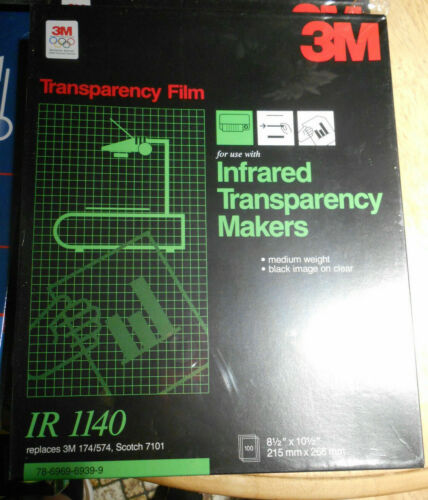 3M IR1140 TRANSPARENCY FILM FOR INFRARED TRANSPARENCY MAKERS 574 7101 100 Sheets
