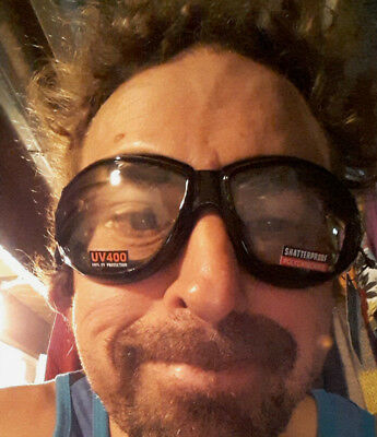 Burning Man Motorcycle ATV Goggles Clear Googles Padded Best Price Buy Now (Google Eyewear Price)