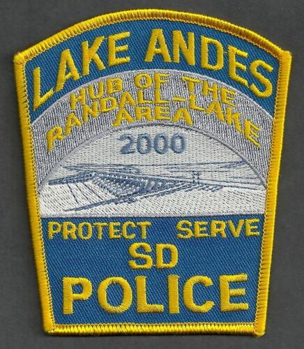 LAKE ANDES SOUTH DAKOTA POLICE SHOULDER PATCH