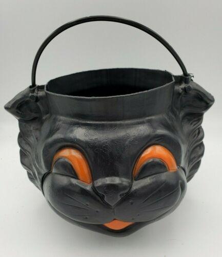 Empire Blow Mold Black Cat Halloween Candy Bucket