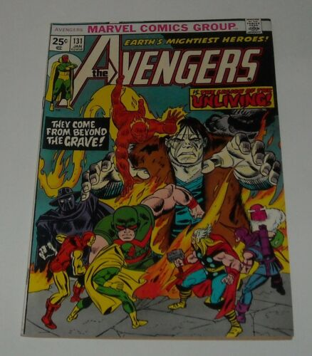 HIGH GRADE KEY 1974 Marvel AVENGERS #131 LEGION of the UNLIVING 1st BELOW GUIDE