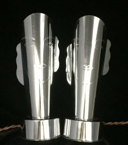 Art Deco Chrome MASQUE Lamps by Helen Dryden for Revere