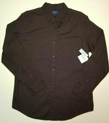 Men's ARIZONA JEANS Button Down LS Dress Shirt S M L Galaxy Gray 100% Cotton NWT Button Down Cotton Jeans