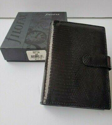 New Filofax Pocket Lizard Black