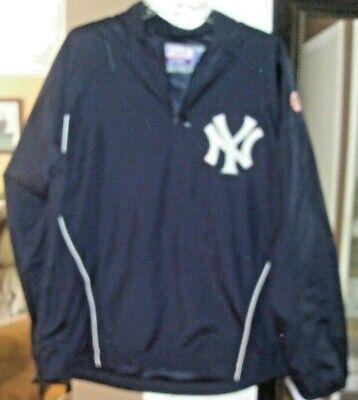 Majestic New York Yankees 1/4 Zip Cool Base Pullover Windbreaker Jacket Size M