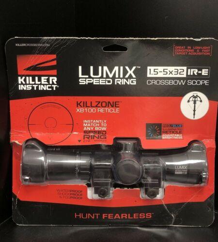 Killer Instinct 1020 Lumix Speed Ring 1.5-5 X 32 IR-E Crossbow Scope