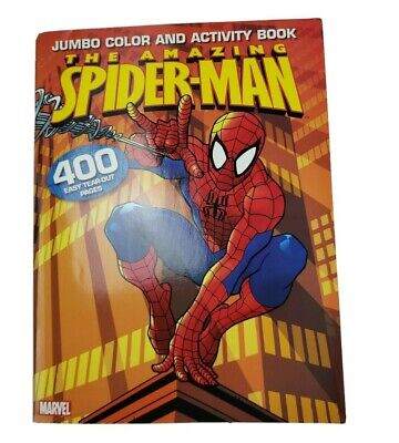 Super Heroes Coloring Pages (2005 Marvel Amazing Spider-Man Jumbo Color & Activity Book 400)