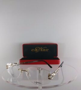 Brand New Authentic Caviar Eyeglasses M 2335 C. 21 Gold 55mm