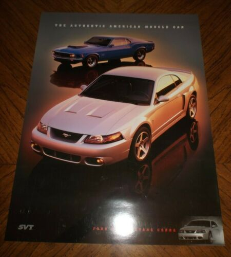 """Ford SVT Mustang Cobra Poster : The Authentic American Muscle Car"""" Poster 2003"""