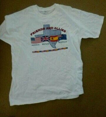 Friends and Allies Crawford Summits on Terrorism t-shirt BN USA Aust Eng Spain