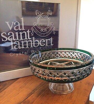 VAL ST LAMBERT - Coupe de type Epinal - très belle taille -doublée vert émeraude