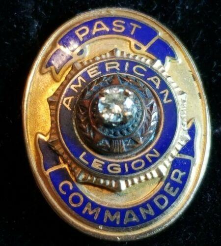 Vintage 10K Yellow Gold American Legion Past Commander Lapel / Hat Pin 2.8 Grams