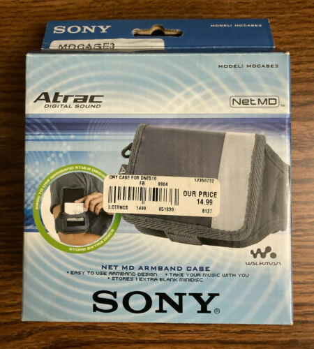 BRAND NEW UNOPENED! Sony Net MD MINIDISC PLAYER ARMBAND CASE See photos! MDCASE3