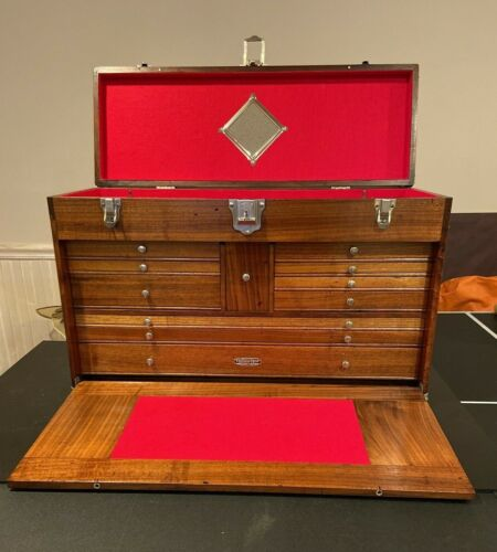 Gerstner & Sons W52 Walnut Tool Chest with Key - Excellent Condition
