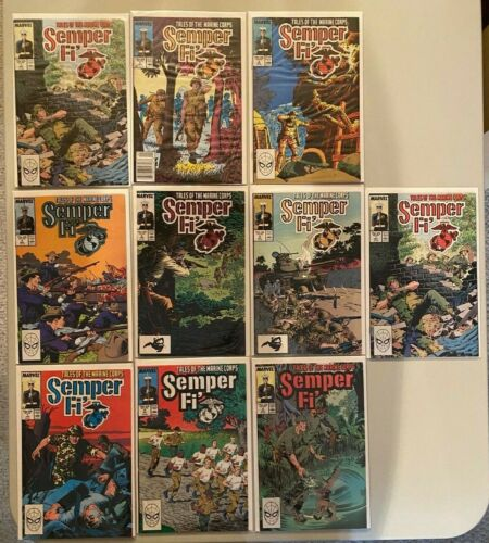 MARVEL SEMPER FI TALES OF THE MARINE CORPS #1 - 9 COMPLETE SET 1988 - LOT OF 10