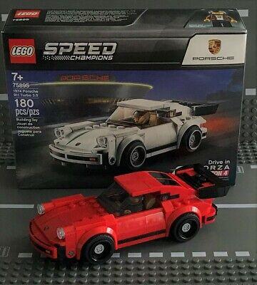 "LEGO SPEED CHAMPIONS 1974 PORSCHE 911 TURBO 3.0 ""CUSTOM RED"" #75895 NEW"