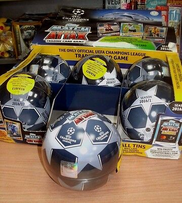 Topps Match Attax UEFA Champions League Ball Tin 2016/17: 70 Cards - Ltd Ed &