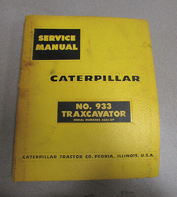 Caterpillar Cat 933 Traxcavator Service Manual 42a1-up 1959