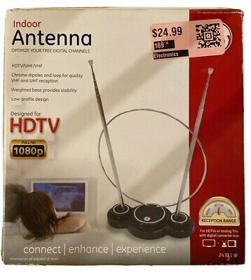 Used, GE Indoor TV Antenna HDTV / VHF / UHF NEW for sale  Shipping to India