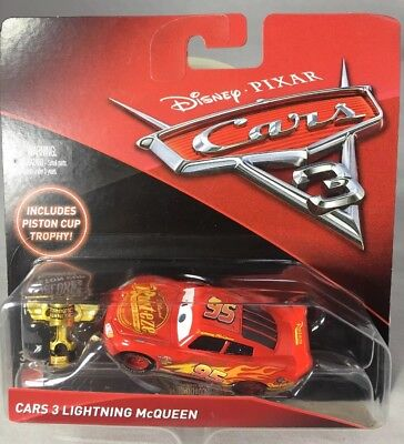 """2017 Disney Pixar CARS 3: """"LIGHTNING MCQUEEN / PISTON CUP TROPHY"""" Toys R Us Only (Toy Trophies)"""