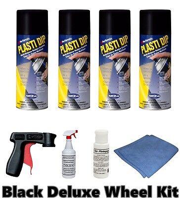 Performix Plasti Dip Matte Black Deluxe Wheel Kit 4 Cans Free Sh Spray Trigger
