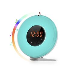 Wake Up Light Alarm Clock SMARTRO Radio with Colored Sunrise Simulation 7 Colors