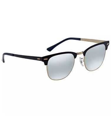 NEW Ray Ban Clubmaster Metal Blue Gradient Mirror Sunglasses RB3716 9160AJ (Ray Ban Blue Gradient)
